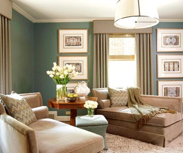 Love the color scheme in this living room!