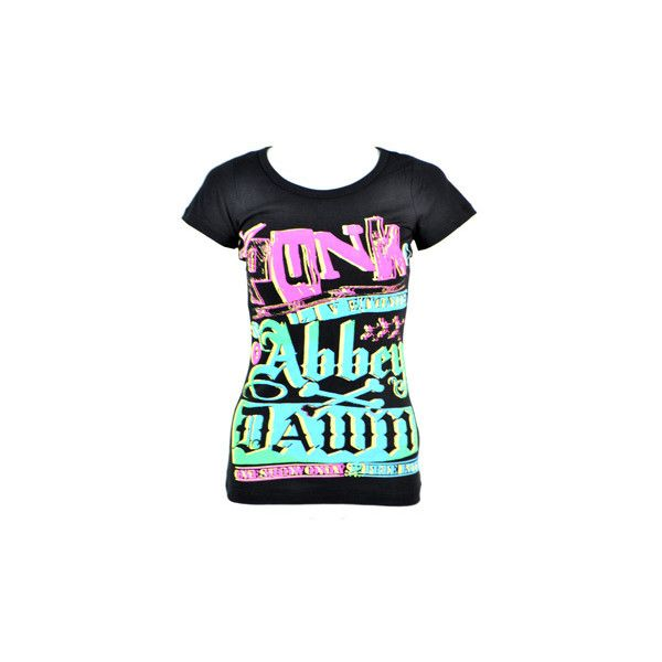 Abbey Dawn Flyer t shirt – Abbey Dawn tee – Avril Lavigne clothes UK ($32) ❤ liked on Polyvore