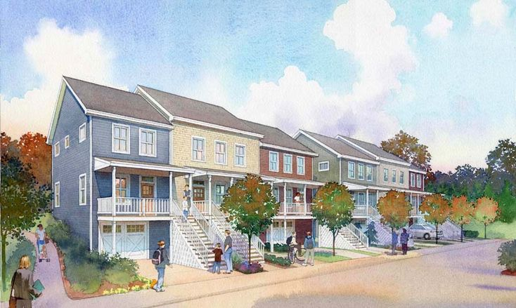 architectural rendering - publick housing