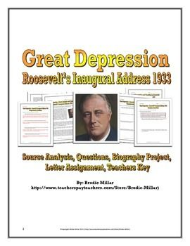 great depression essay outline