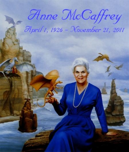 I love the Dragonriders of Pern series! And I'm so sad that Anne McCaffery passed away :-(