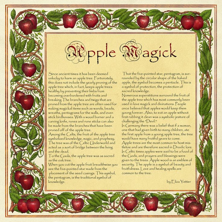 Book of Shadows, Apple Magic by *Brightstone on deviantART
