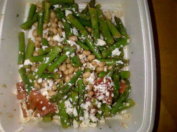 Green Bean, Tomato and Asparagus Salad (made during cooking class)