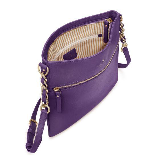 purple crossbody purse Kate Spade. LOVE