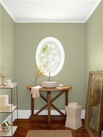 Look At The Paint Color Combination I Created With Benjamin Moore Via Wall Urban Nature Af 440 Trim Chantilly Lace Oc 65