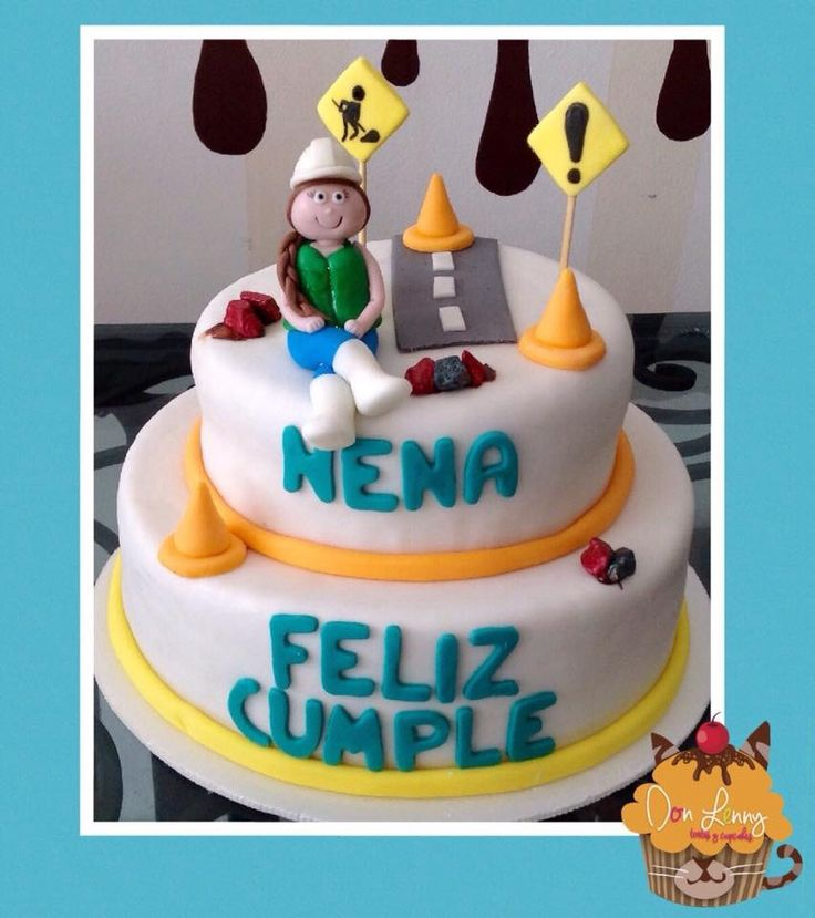 Torta Para Ingeniera Civil Fondant Birthday Cake