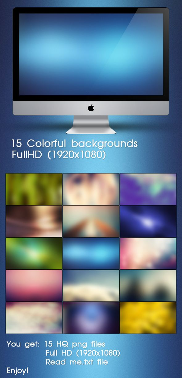 15 Colorful Blurred Backgrounds
