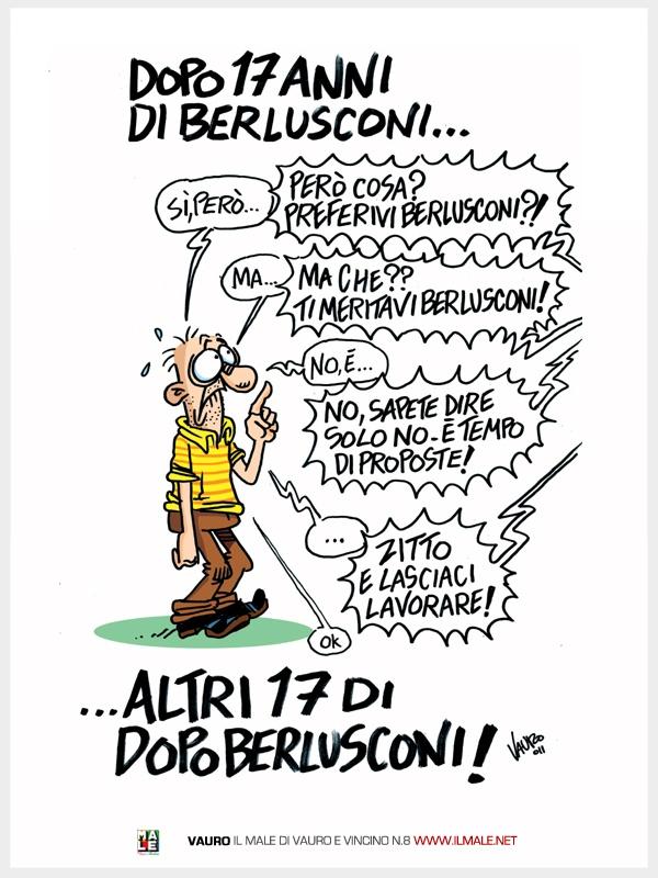 Vauro | sito ufficiale | Dopo 17 anni di Berlusconi...