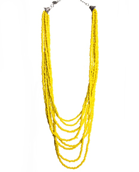 Beach beads #yellow #necklace