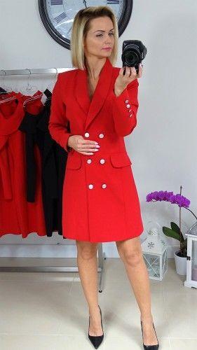 c35160379db40 SUKIENKA FASON MARYNARKA CZERWONA Glossybutik | ciuchy | Fashion ...