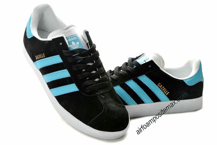 Adidas Gazelle 2 Chlorine Blue Black White   #Black  #Womens #Sneakers