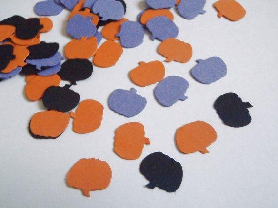 98 coriandoli zucca halloween autunno arancione nero viola lilla matrimonio horror decorazione tavola card scrapbooking diy lasoffittadiste