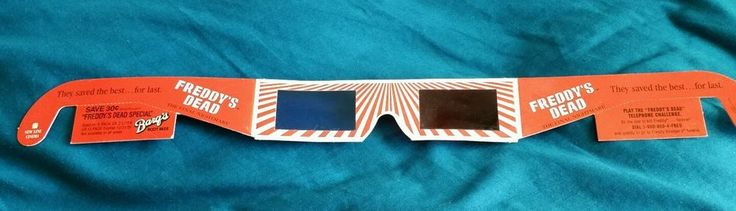 Movie Promo Item 3-D Glasses Freddy's Dead for Freddy Vision Nightmare on Elm St