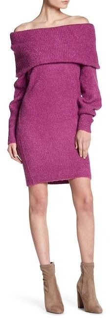 Juicy Couture Boucle Cowl Neck Sweater Dress