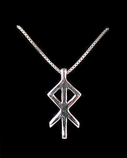 Icelandic Heart Rune, smbolizes warmth and comfort, but also courage. http://www.ingebretsens.com/jewelry/icelandic-runic-jewelry/alrun-sterling-silver-rune-pendant-heart.html