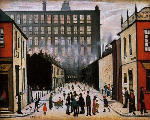 Street Scene (Pendlebury) - (medium) Art Print by L S Lowry at King & McGaw