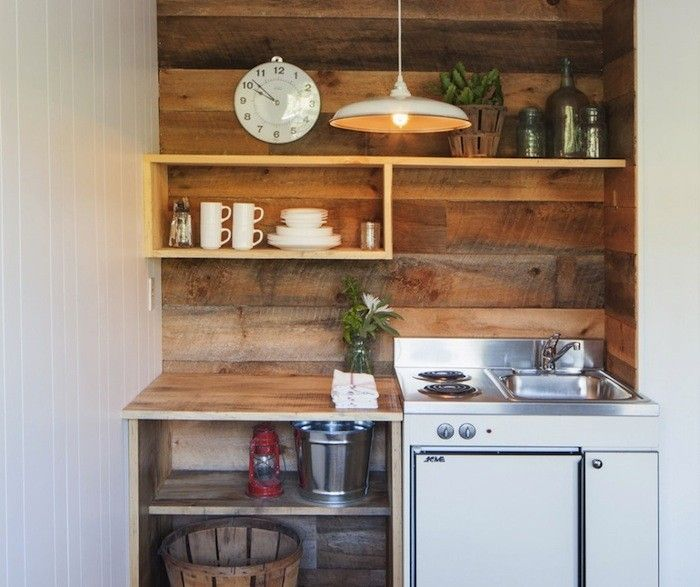 A Kitchenette at Graham and Co, Remodelista  CATSKILLS  Lots of good inexpensive interior ideas for a small house