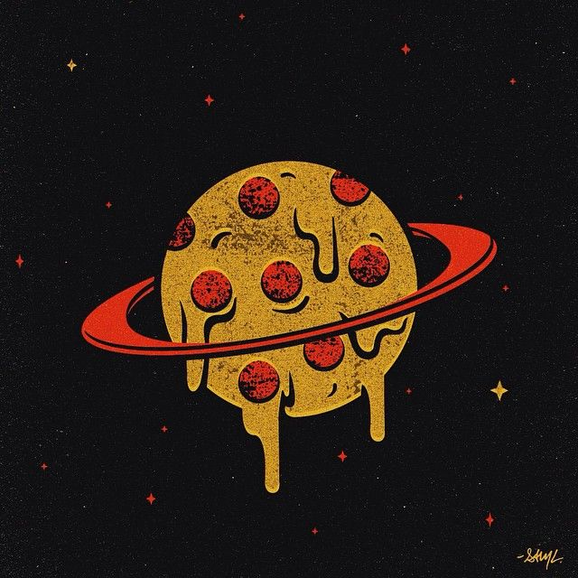 pizza planet sam larson pizza design pizzaordeath art pinterest. Black Bedroom Furniture Sets. Home Design Ideas
