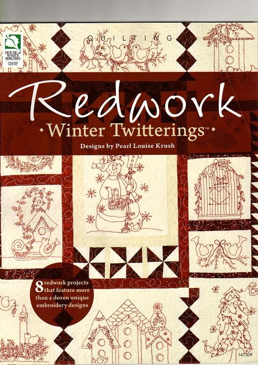 Gallery.ru / Фото #1 - Pearl Louise Krush - Redwork Winter Twitterings - 2010 - Los-ku-tik