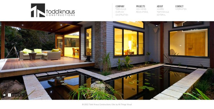 It's a construction/builder/real estate company website with fully responsive design.  Website url: http://toddknaus.com.au/