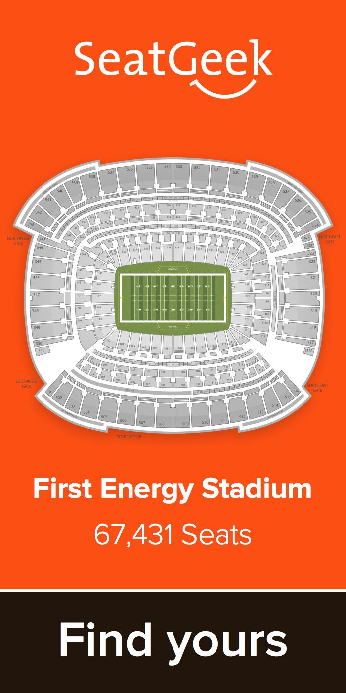 The best deals for Browns tickets are on SeatGeek!