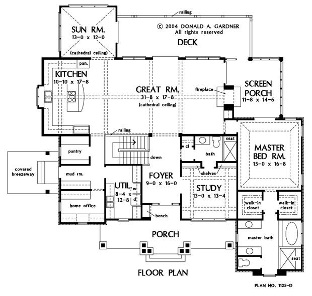 Hard To Find Floorplans With No Formal Dining Room. Id Kill The Screen  Porch Behindbthe Master, Shift The Master Back And Expand The Front Porch.