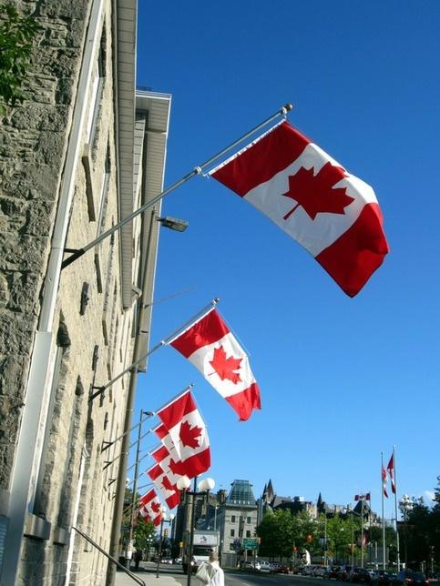 The Canadian flag. - Ottawa