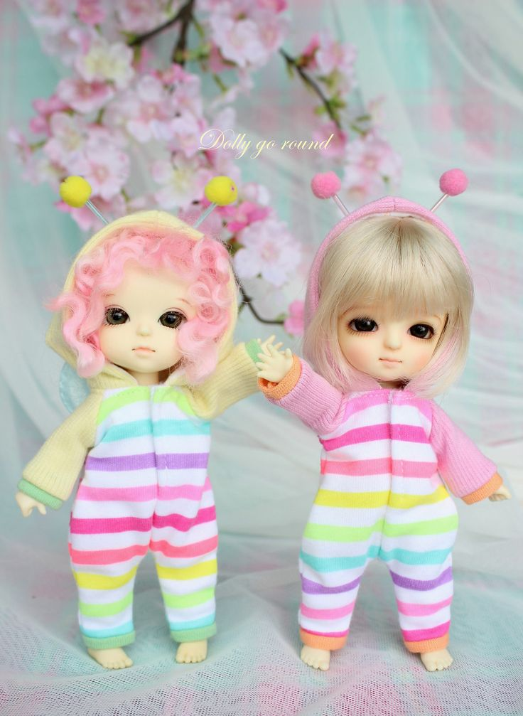 pink rainbow bees suit and yellow rainbow bee suit | Flickr