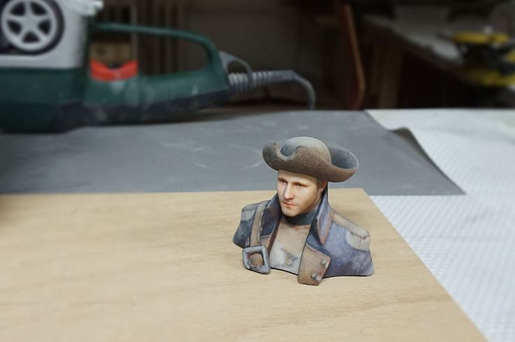 3d printed pirate bust
