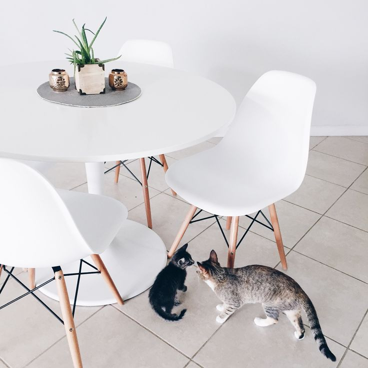 Dining Table | Eames Chairs U0026 IKEA DOCKSTA Table | Minimal Dining Room