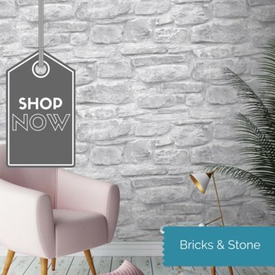 Stone WM-015    Rural Rustic Stone Effect Wallpaper    With this realistic stone effect wallpaper you can create an amazing, urban loft style in your home, it really has to be seen and touched to be believed.    We have been out and about with our camera to find the most AMAZING brick walls even on holiday! It's become a bit of an obsession in our family who can find the best one! & stone wallpapers