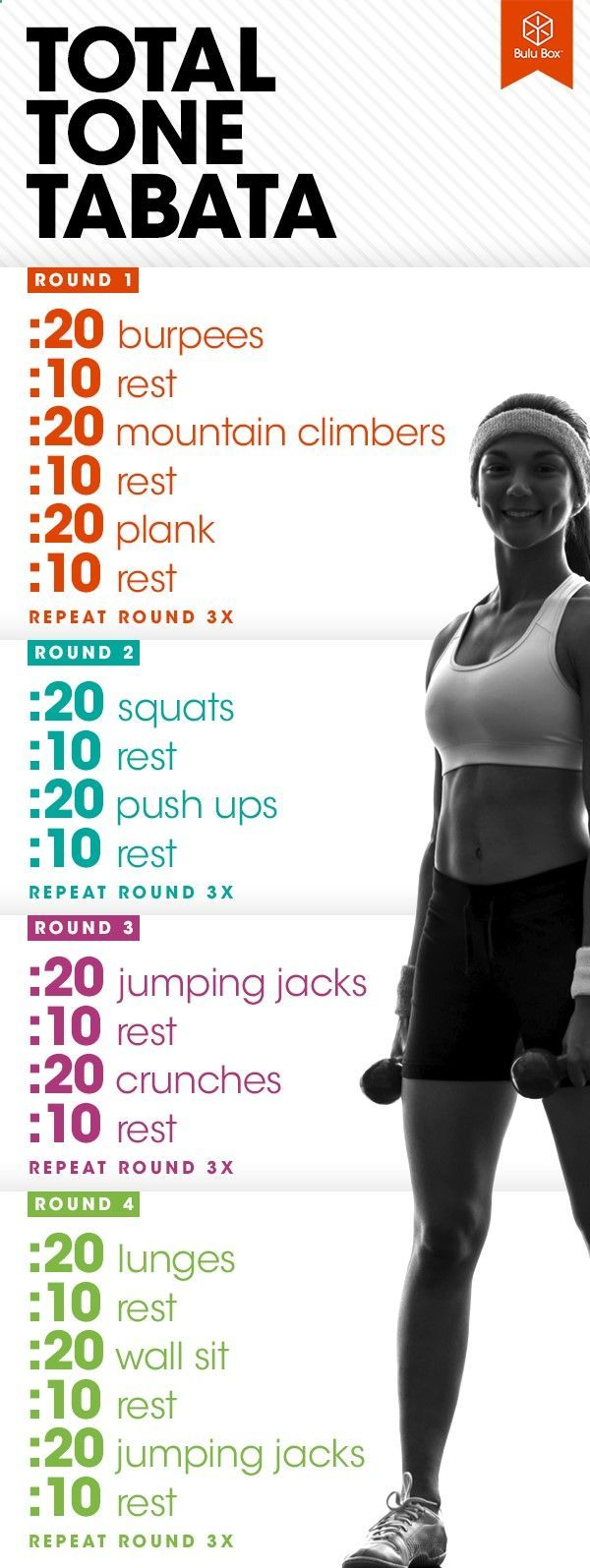 bulu_workout_total_tone_tabata #CardioWorkouts | Posted By: NewHowToLoseBellyFat.com