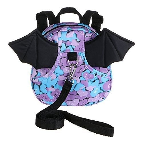 Safe Baby Harness Toddler Kids Safety Child Bat Purple Walk Back Pack Strap Rein #SafeBabyHarness