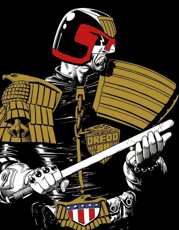 SPACESHIP ROCKET, Judge Dredd by Brian Bolland