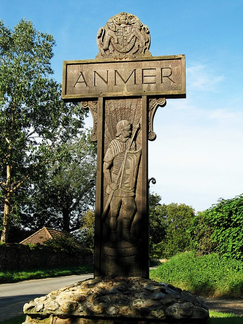 Anmer Village Sign by Louise and Colin