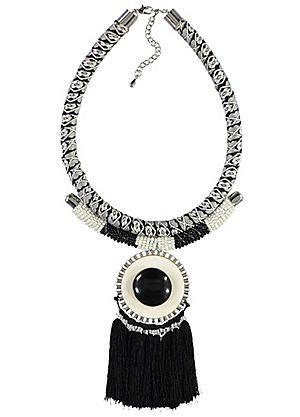 Disc & Tassel Necklace #kaleidoscope #jewellery