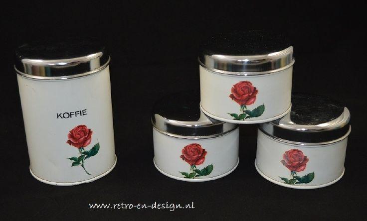 Brabantia set bussen wit met roos