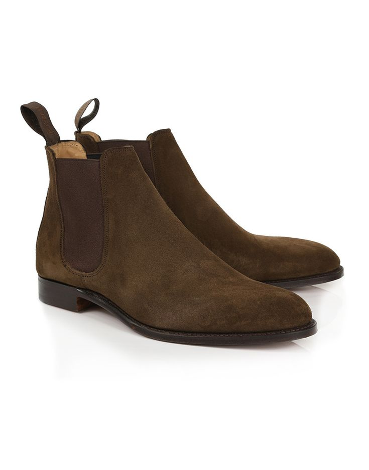 Beautifully high in quality and function, the Men's Made in England Threadneedle Chelsea Boots by Cheaney are the perfect boot for the man who values his function as high as his style, thanks to its beautiful quality suede uppers, Goodyear welted sole and stunning leather full lining. The boots are based on the classic Chelsea Boot style, and are sure to look great with whatever they are matched with, from a pair of casual blue or black denim jeans, to a smart full suit and tie.