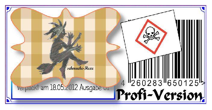Etiketten-Software professioneller Druck von Etiketten mit Barcode GHS-CLP Datum