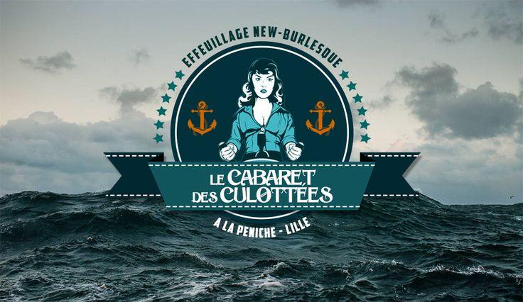 Le Cabaret des Culottées à la Péniche  #newburlesque #cabaret Cornet de Pixels - Graphisme - Lille