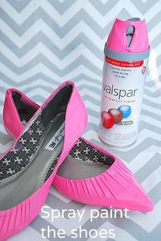 Update Old Shoes With Spray Paint and Jewelry!