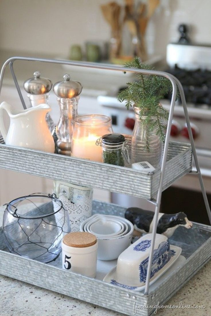 Kitchen: collate everyday items on a tray