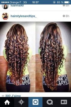 Piggyback Perm Long Hair | Hello I'm French. I wish I had hair like this all the time. How ...