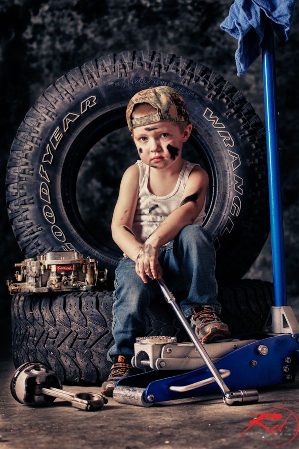 kids, portraits, Red Photography, north idaho my little grease monkey :)
