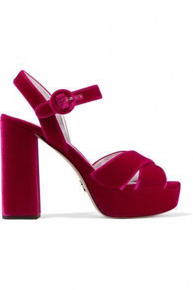 524d460351 PRADA Velvet platform sandals. #prada #shoes # #Shoeshighheels | High Heels:  Pleasure With Pain in 2019 | Strappy sandals heels, Block heel platform  sandals ...