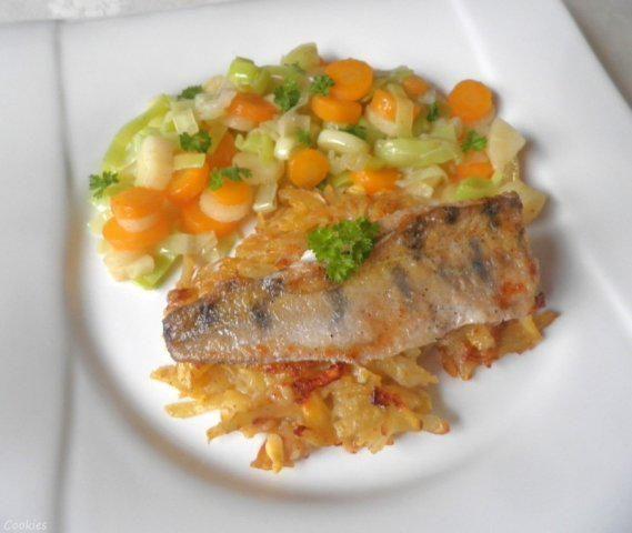Das perfekte Zanderfilet auf Steckrüben - Kartoffel - Rösti ...-Rezept mit einfacher Schritt-für-Schritt-Anleitung: Fisch ca. 30 Minuten antauen lassen…