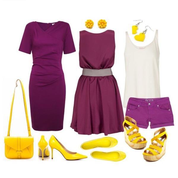 Подобрать аксессуары под фиолетовое платье
