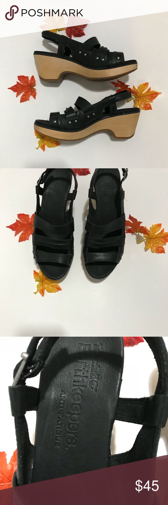 Timberland Earthkeeper Black Leather Sandals Timberland Earthkeeper Black Leather Sandals. Like New. Anti Fatigue and lightweight design. Timberland Shoes Sandals