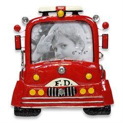 Cadre photo camion de pompier id es chambre l o - Chambre garcon pompier ...