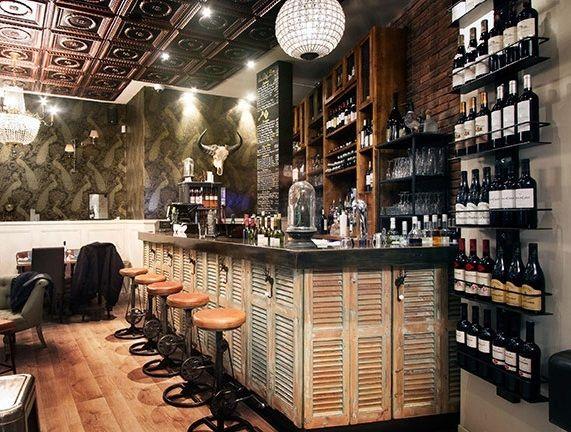 17 mejores ideas sobre contraventanas interiores en for Barras de madera bar